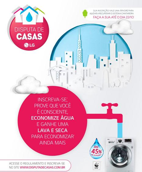 LG promove reeducação no consumo de água