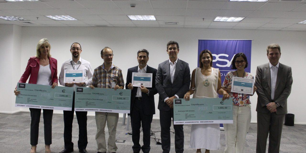 PSA premia projetos sociais