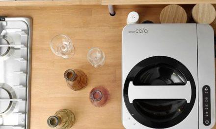 Uma composteira para eliminar o lixo da cozinha