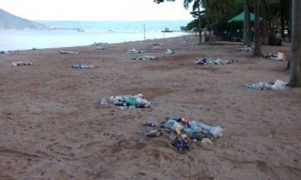 Novecentos quilos de lixo no litoral norte de São Paulo
