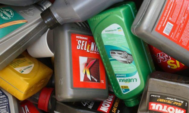 Embalagens de óleo recicladas sem uso de água