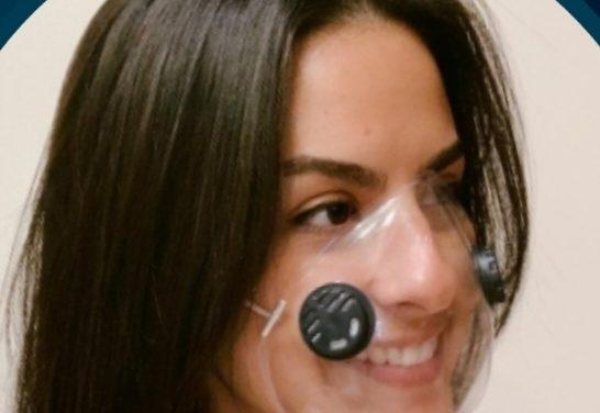 Máscara transparente facilita identificação facial