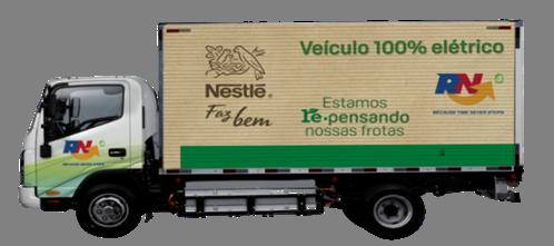 Nestlé terá 100 caminhões elétricos e bicombustível